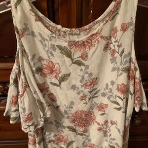 Cold shoulder top size large